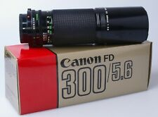Canon FD n  300mm F5.6. (manual focus) in makers box.