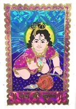 Traditional & Colourful Lado Krishna/Gopal Foil Sticker –Hindu Religious Sticker