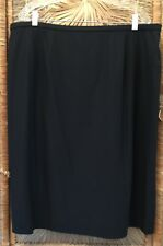 Dana Buchman Woman Woman's Straight Pencil Skirt Size 22 Black Wool Fully Lined