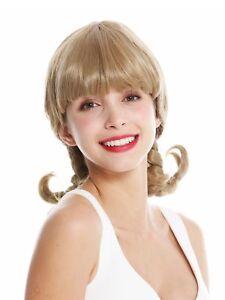 Women's Wig Ladies Cosplay Fringe Braids Stiff Braided Blonde GFW3273