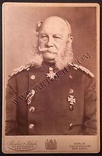 Kabinettfoto KAISER WILHELM I., Feldmarschall Uniform, Pour le Merite, 1888