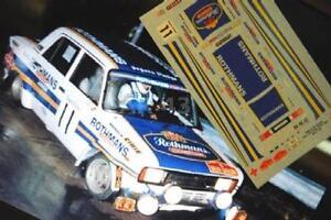 """DECAL CALCA 1/43 SEAT 124 Gr.2 """"ROTHMANS"""" P. DE SOUSA RALLY CATALUNYA 1982"""