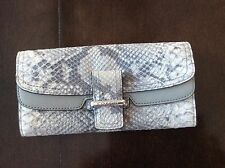 New Authentic NWOT Coach Soho Exotic Python Snakeskin Embossed Buckle wallet