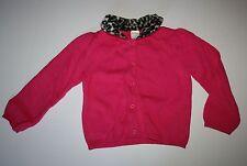 New Gymboree Girls Pink Cardigan Sweater 4T NWT Leopard Animal Print Collar