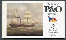 GB 1987 - Prestige Booklet - SG DX8 - SC BK151  - Story of P&O 1837 - 1987