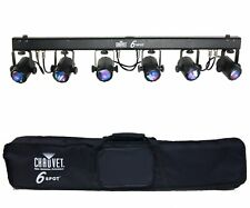 CHAUVET 6SPOT 6 SPOT LED DJ Dance Effect DMX Stage Light System + Travel Bag