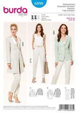 BURDA COUTURE MOTIF dames pantalon suites veste 8 -20 6898