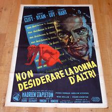 NON DESIDERARE LA DONNA D'ALTRI manifesto poster Montgomery Clift Myrna Loy g7