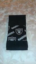 Oakland Raiders Hand Towel Handmade  GREAT GIFT
