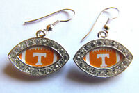 TENNESSEE VOLUNTEERS FOOTBALL EARRINGS NWT DOME STYLE
