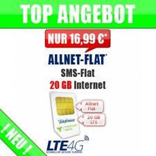 Handytarif Allnet + SMS Flat 20 GB Smartphone Simkarte Handyvertrag 16,99 €/mtl.