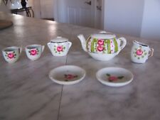 Vintage Miniature Ceramic Tea Set (Hand Painted)