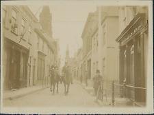 Belgique, Scène de Vie, promenade à Cheval, à identifier Vintage citrate print