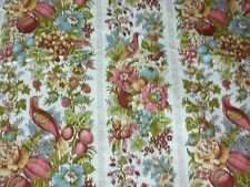 """VINTAGE 5 YARDS WAVERLY SCREEN PRINTED BONDED COTTON FABRIC SOMERSET HALL 48"""""""