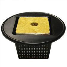 "Square Mesh Pot Lids 6"" - fits 5 gallon buckets net cups hydroponics 6 inch"