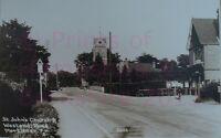 "PRINT 10"" X 7""  ST JOHNS CHURCH WESTEND ROAD MORTIMER BERKSHIRE c1939"