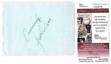 George Olsen Signed JSA Vintage 1938 Autograph 4x6 Page Band Leader Died 1971