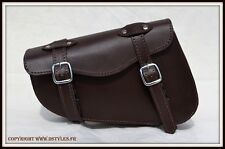 Borsa laterale di pelle marrone custom Sportster iron forty nighster XL VN HD
