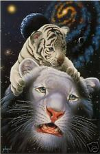 Schimmel s/n giclee, White Tiger Magic, signed by Siegfried and Roy