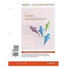 Finite Mathematics and Its Applications, Books a la Carte Edition by David I. S…