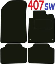 Tailored Deluxe Quality Car Mats Peugeot 407sw 2004-2010 ** Black ** Estate
