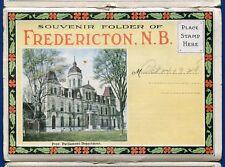 Fredericton New Brunswick Waterloo Row Wilmot Park Canada postcard folder