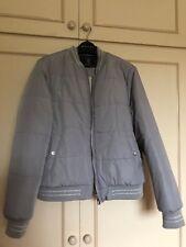 Woman's Lipsy Grey Padded Fur Lined Jacket size: Petite 16
