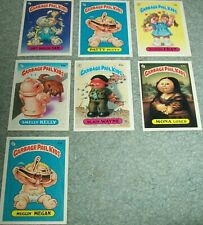 7 Card Lot Garbage Pail Kids Stickers Cards