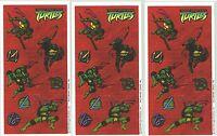 Teenage Mutant Ninja Turtles TMNT Scrapbook Stickers 3 Sheets Raphael Donatello