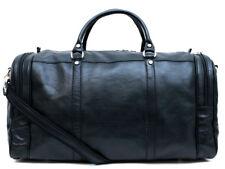 Borsone pelle uomo donna nero borsa viaggio con tracolla borsa palestra cabina
