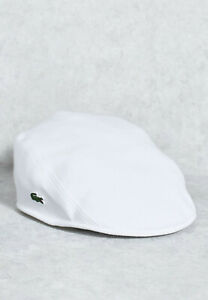 NEW Lacoste Men's Cotton Flat Cap Size S M Limited Edition with Lacoste Gift Bag