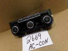 2012 2013 2014 Volkswagen Jetta AC and Heater Control Used Stock #2669-AC