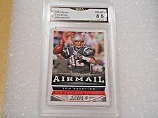 Tom Brady GRADED CARD!! 2013 Score #239 Patriots League MVP!! x-8.5