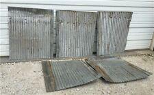 5 Pcs Corrugated Weathered Barn Tin, Farmhouse Architectural Salvage Vintage g,