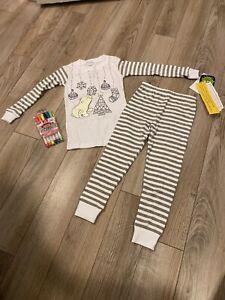 NEW Christmas Pajama Set Glow In The Dark Size 3 Toddler