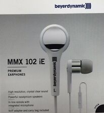 Beyerdynamic - MMX 102 iE - White Stereo Earbuds SKYPE Headset with VoIP Adapter