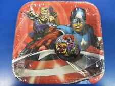 "Avengers Assemble Marvel Superhero Kids Birthday Party 7"" Square Dessert Plates"