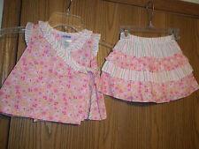 Okie Dokie Girls Size 18 Months Pink Floral Top Skort NEW