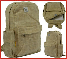 100% Natural Hemp RuckSack Backpack Bag Vintage Canvas Handmade Fair trade Nepal