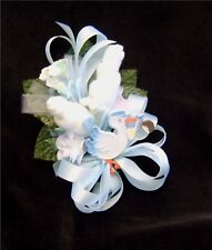 Baby Shower Corsage With  Blue Stork Handmade