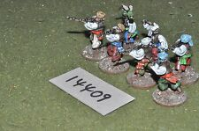 25mm marlburian / west indies - pirates 7 figures - inf (14409)