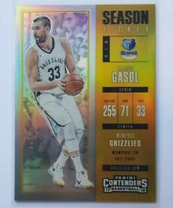 NBA 17/18 Contenders Optic Season Ticket GOLD Prizm Card # 1/10 - Marc Gasol 🔥