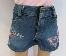 "Butterfly print Denim Jean shorts  - FITS AMERICAN GIRL & OTHER 18"" DOLLS"