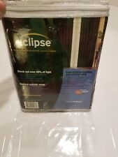 """Eclipse Thermaback Microfiber Grommet Blackout Curtain One Panel Black 40"""" x 84"""""""
