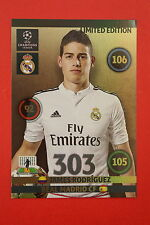 ADRENALYN CHAMPIONS LEAGUE 2014/15 LIMITED EDITION XXL RODRIGUEZ REAL MADRID!!