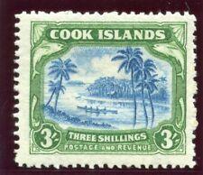Cook Islands 1938 KGVI 3s light blue & emerald-green MLH. SG 129. Sc 114.