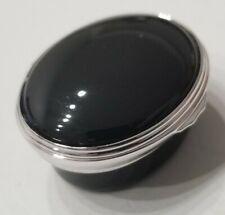 Halcyon Days Enamels Box. Guggenheim Collection England Rare Silver Tone Black