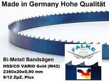 2 Stück Bandsägeblätter COM-BI-HSS/CO VARIO (M42) 2360 mm x 20  x 0,90 mm 8/12