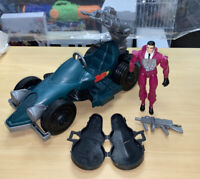Bulletproof Figure w/Weapon, Case & Roadster Vehicle Cops & Crooks Vintage 1988