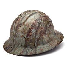 Pyramex HP54119 Ridgeline Matte CAMO Full Brim Hard Hat W/4 Pt. Ratchet Susp